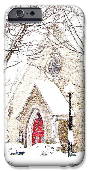 Winter Storm iPhone Cases - House of Mracles iPhone Case by Margie Amberge