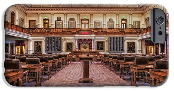 Elected iPhone Cases - House of Representatives - Texas State Capitol iPhone Case by Mountain Dreams