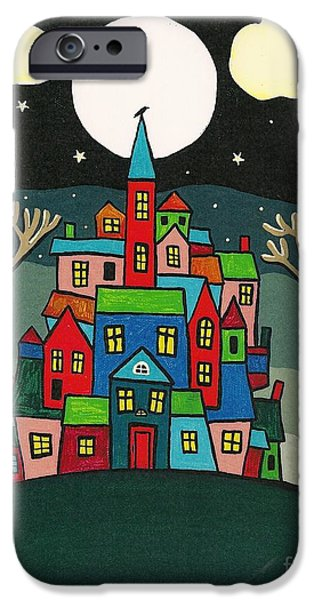 House of the Crow iPhone Case by Margaryta Yermolayeva