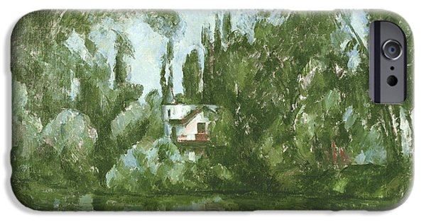River iPhone Cases - House On The Banks Of The Marne, 1889-90 Oil On Canvas iPhone Case by Paul Cezanne