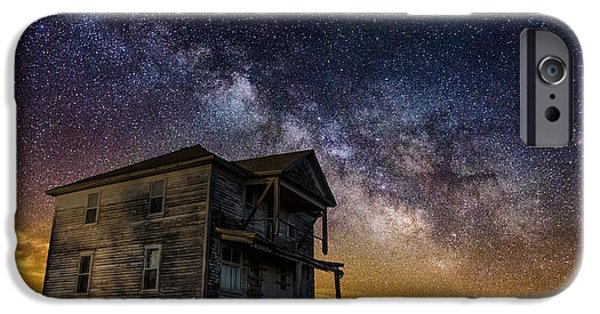 Afraid iPhone Cases - House on the Hill iPhone Case by Aaron J Groen