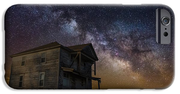 Abandoned House iPhone Cases - House on the Hill   remastered iPhone Case by Aaron J Groen