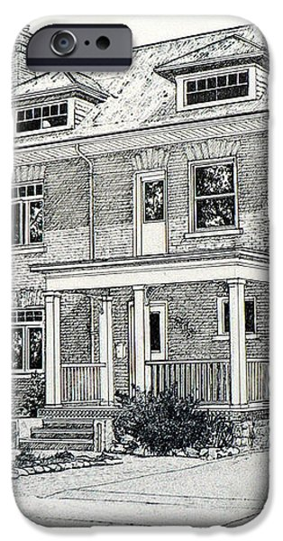House Portrait In Ink 1 iPhone Case by Hanne Lore Koehler