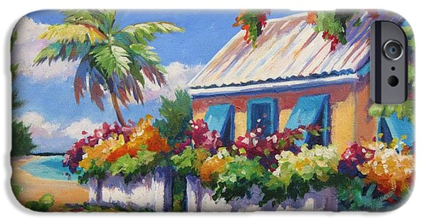 Bermudas iPhone Cases - House with Blue Shutters iPhone Case by John Clark