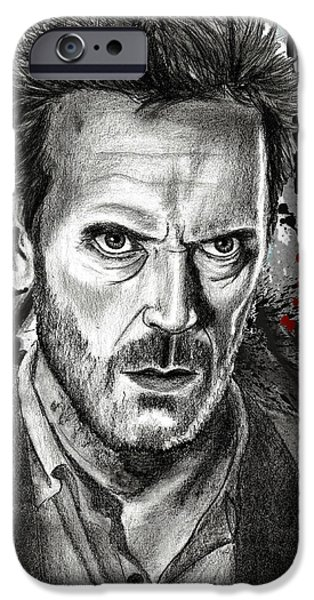 Gregory House iPhone Cases - House iPhone Case by Yf Jarosova