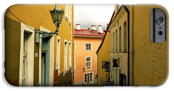 Estonia Photographs iPhone Cases - Houses Along A Street, Toompea Hill iPhone Case by Panoramic Images