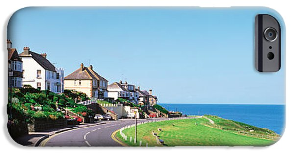 Pathway iPhone Cases - Houses Exmoor Rockham Bay England iPhone Case by Panoramic Images