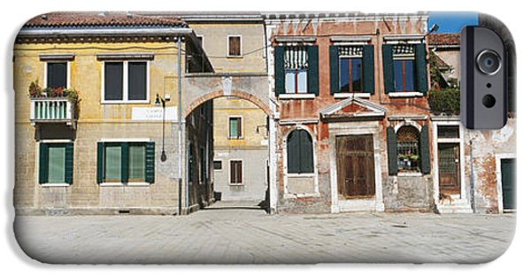 Balcony iPhone Cases - Houses In A Town, Campo Dei Mori iPhone Case by Panoramic Images