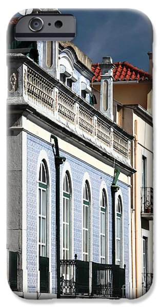 Houses in Alfama iPhone Case by John Rizzuto