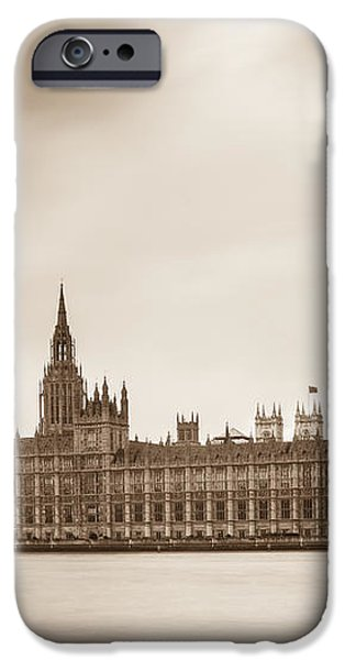 Houses of Parliament and Elizabeth Tower in London iPhone Case by Semmick Photo