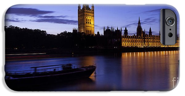 Big Ben iPhone Cases - Houses of Parliament at Dusk iPhone Case by Simon Kayne