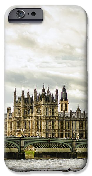 Houses of Parliament on The Thames iPhone Case by Heather Applegate