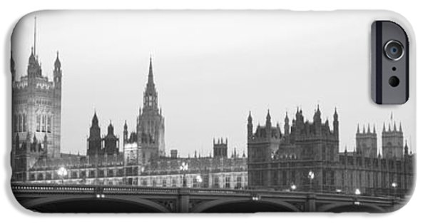 White House iPhone Cases - Houses Of Parliament Westminster Bridge iPhone Case by Panoramic Images
