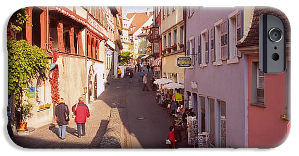 Alley iPhone Cases - Houses On Both Sides Of An Alley, Lake iPhone Case by Panoramic Images