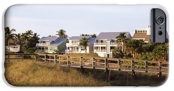 Built Structure iPhone Cases - Houses On The Beach, Gasparilla Island iPhone Case by Panoramic Images