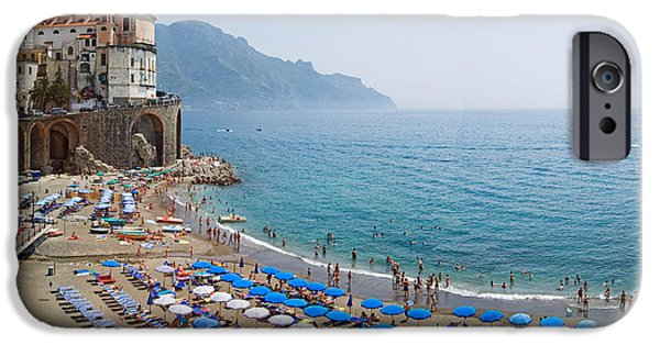Mode Of Transport iPhone Cases - Houses On The Sea Coast, Amalfi Coast iPhone Case by Panoramic Images