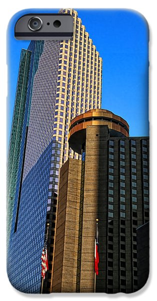 Business iPhone Cases - Houston Buildings iPhone Case by Judy Vincent