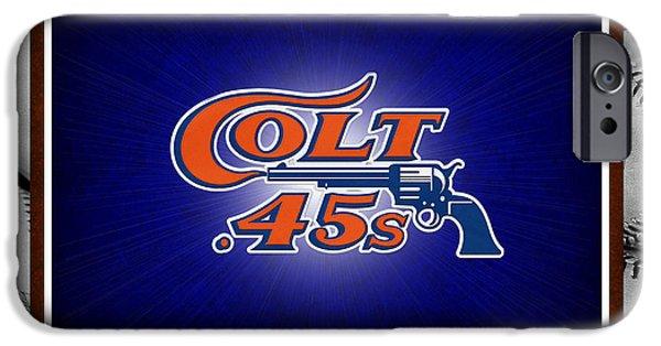 Colt 45 iPhone Cases - HOUSTON COLT 45s iPhone Case by Joe Hamilton