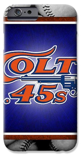 HOUSTON COLT 45's iPhone Case by Joe Hamilton