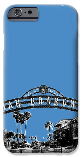 Pen And Ink iPhone Cases - Houston Kemah Boardwalk - Slate iPhone Case by DB Artist