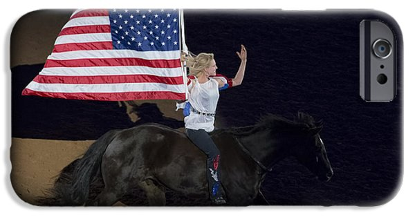 Horse iPhone Cases - Houston Livestock Show and Rodeo Symbol of Freedom iPhone Case by TN Fairey