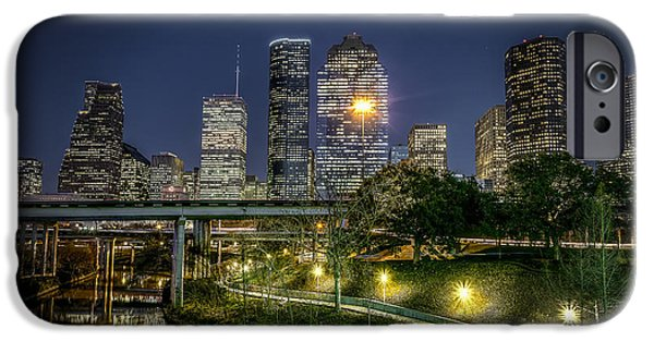 Finance iPhone Cases - Houston on the Bayou iPhone Case by David Morefield