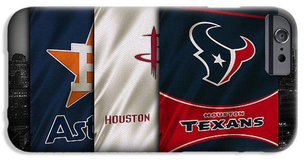 Mlb iPhone Cases - Houston Sports Teams iPhone Case by Joe Hamilton