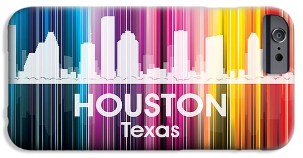 Buildings Mixed Media iPhone Cases - Houston TX 2 iPhone Case by Angelina Vick