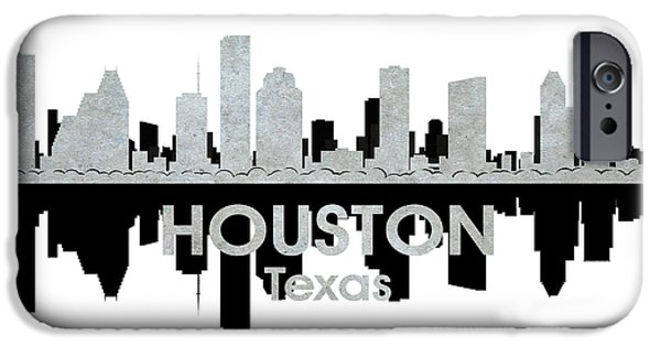 Buildings Mixed Media iPhone Cases - Houston TX 4 iPhone Case by Angelina Vick