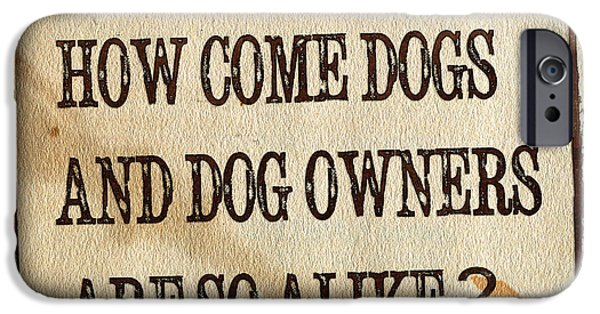 Owner Digital iPhone Cases - How come dogs and dog owners are so alike iPhone Case by Hiroko Sakai