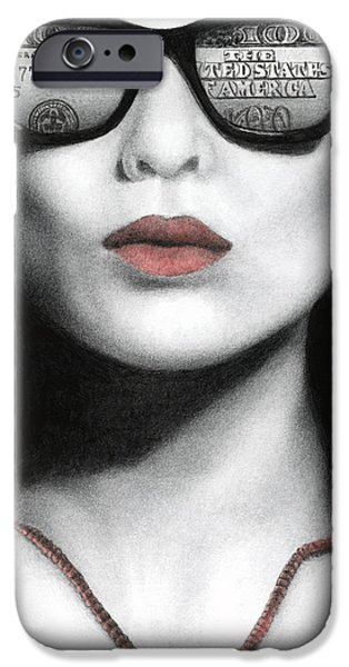 Goth iPhone Cases - How Do I Love Thee...Let Me Count Your Money iPhone Case by Pat Erickson