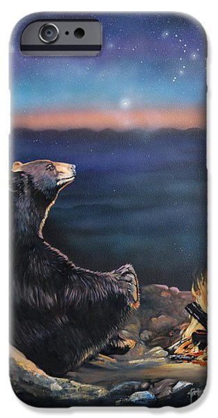 Spiritual iPhone Cases - How Grandfather Bear created the Stars iPhone Case by J W Baker