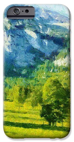 How Green Was My Valley iPhone Case by Ayse Deniz