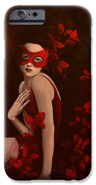 Fairies Paintings iPhone Cases - How long do butterflies live iPhone Case by Dorina  Costras