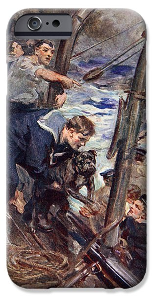 Wwi Drawings iPhone Cases - How Norah The Bulldog Was Saved iPhone Case by Cyrus Cuneo
