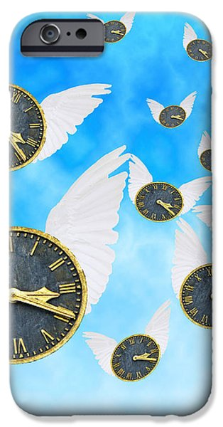 How Time Flies iPhone Case by Juli Scalzi