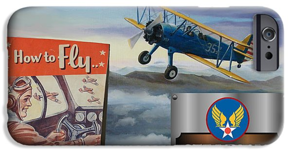 Aeronautical iPhone Cases - How To Fly Stearman PT-17 iPhone Case by Stuart Swartz