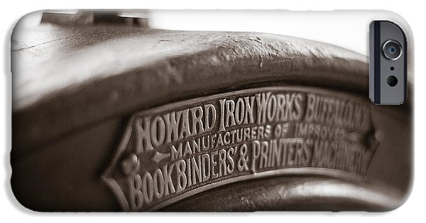 Printmaking iPhone Cases - Howard IronWorks iPhone Case by Chris Bordeleau