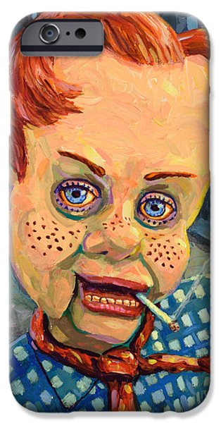 Smoking iPhone Cases - Howdy Von doody iPhone Case by James W Johnson