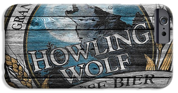 Tap iPhone Cases - Howling Wolf iPhone Case by Joe Hamilton