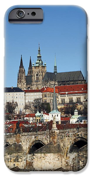 Hradcany - Prague castle iPhone Case by Michal Boubin