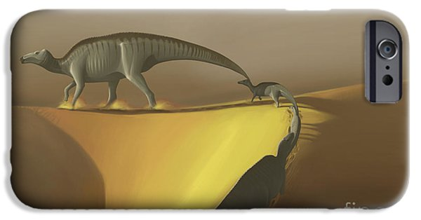 Following iPhone Cases - Huaxiaosaurus Aigahtens Dinosaurs iPhone Case by Michele Dessi