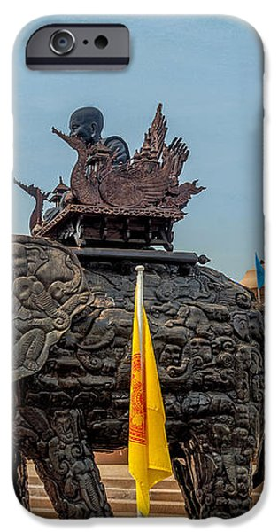 Huay Mongkol Temple  iPhone Case by Adrian Evans