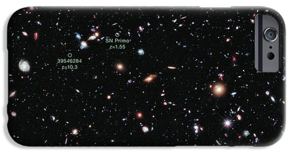 Heavenly Body iPhone Cases - Hubble Extreme Deep Field Xdf iPhone Case by Science Source