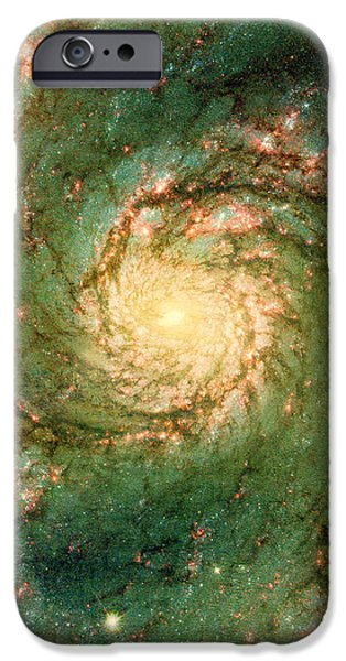 The Void iPhone Cases - Hubble - The Heart of the Whirlpool Galaxy iPhone Case by Paulette B Wright