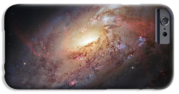 Recently Sold -  - Stellar iPhone Cases - Hubble view of M 106 iPhone Case by Adam Romanowicz