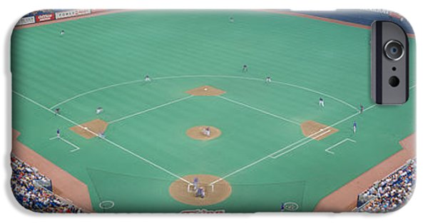 Baseball Stadiums iPhone Cases - Hubert H. Humphrey Metronome, Twins V iPhone Case by Panoramic Images