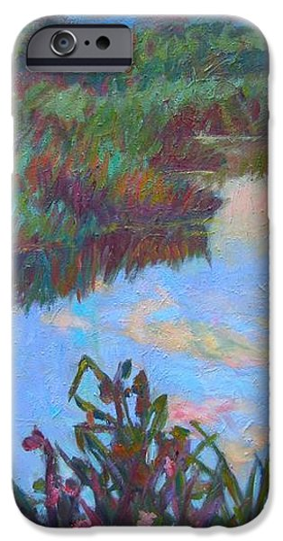 Huckleberry Line Trail Rain Pond iPhone Case by Kendall Kessler