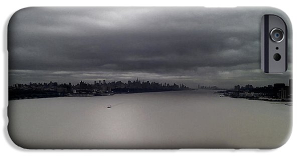 Hudson River iPhone Cases - Hudson From The Bridge iPhone Case by Tom Kostro