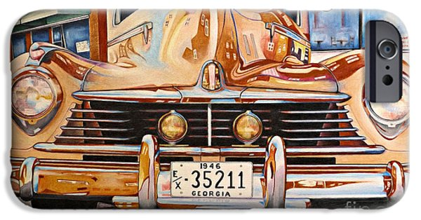 Automotive iPhone Cases - Hudson has a Surrealistic Moment iPhone Case by David Neace